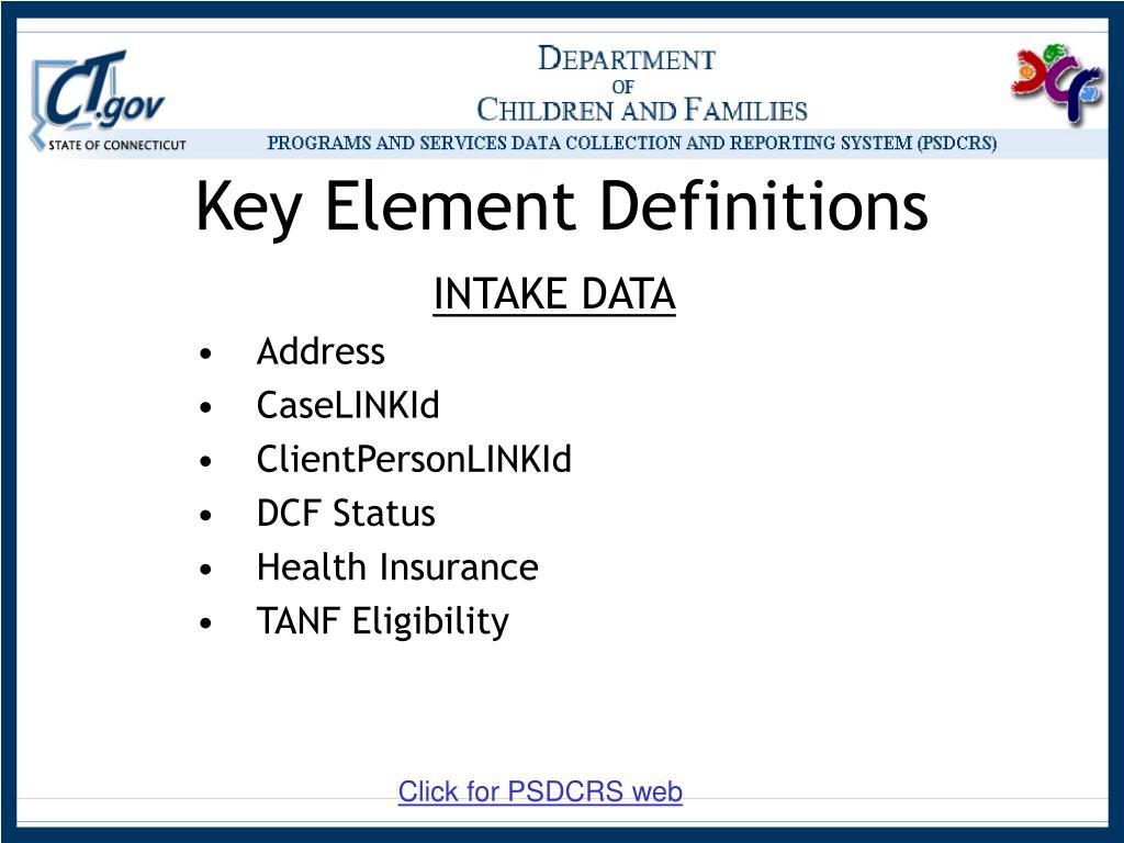 Key Element Definitions