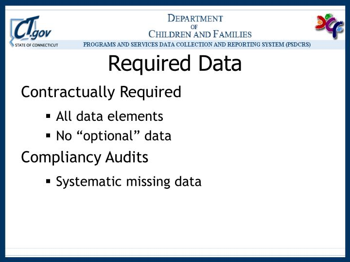 Required data