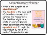 advertisement poster