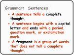 grammar sentences46