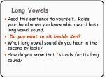 long vowels87