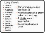 long vowels88