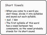 short vowels84