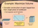 example maximize volume