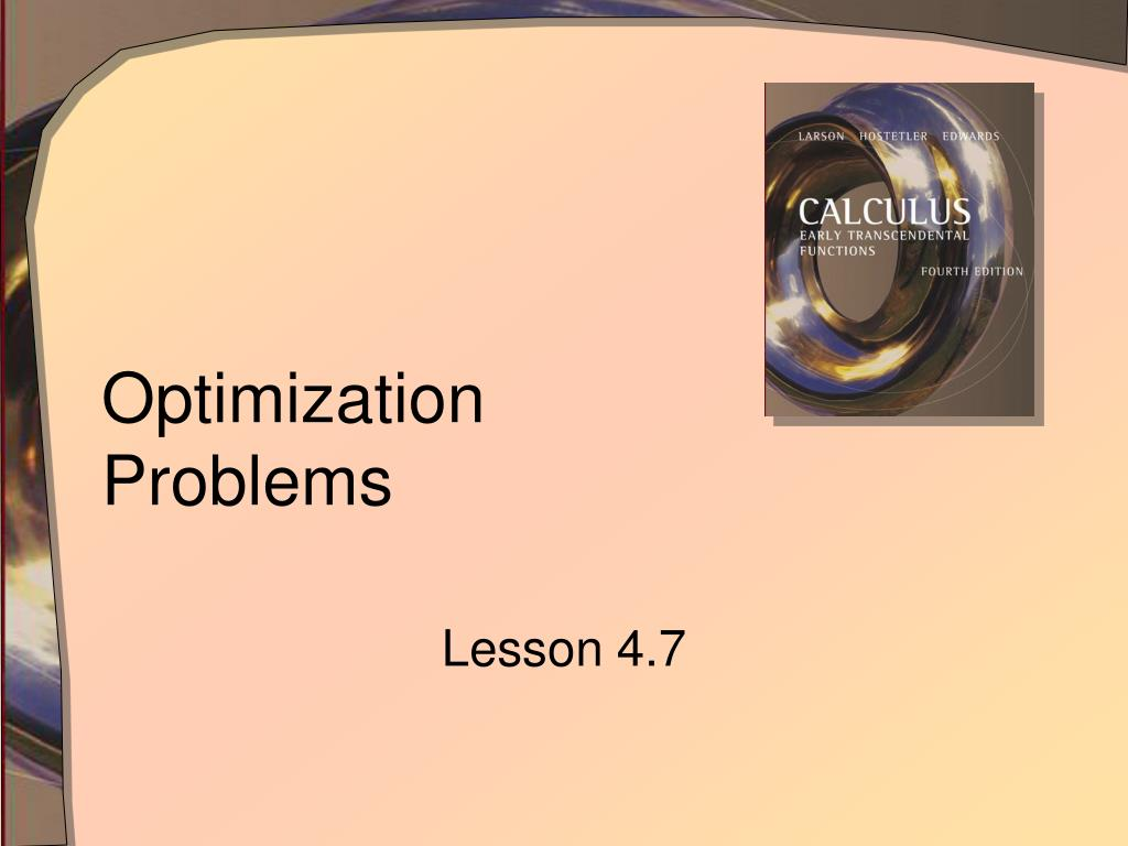 optimization problems l.
