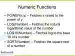 numeric functions39