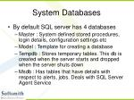 system databases