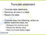 truncate statement