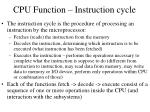 cpu function instruction cycle