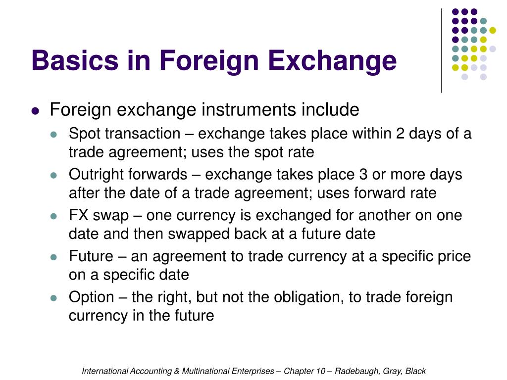 Basics in Foreign Exchange