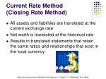 current rate method closing rate method
