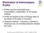elimination of intercompany profits