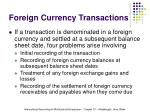 foreign currency transactions6