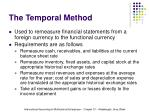 the temporal method