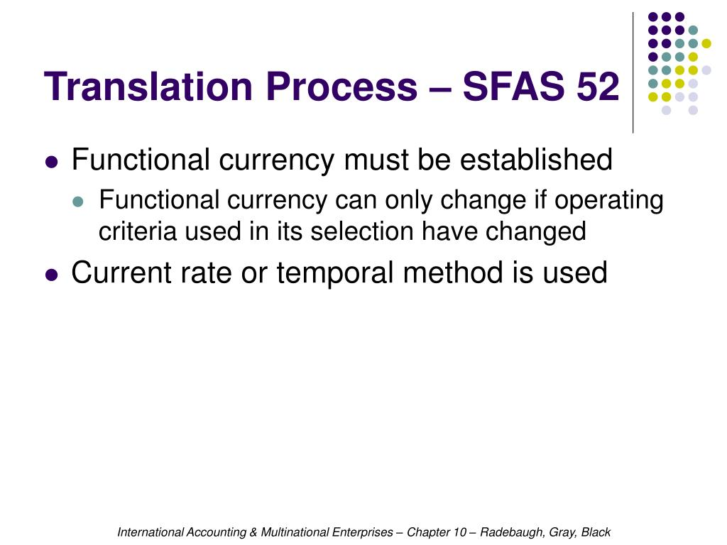 Translation Process – SFAS 52