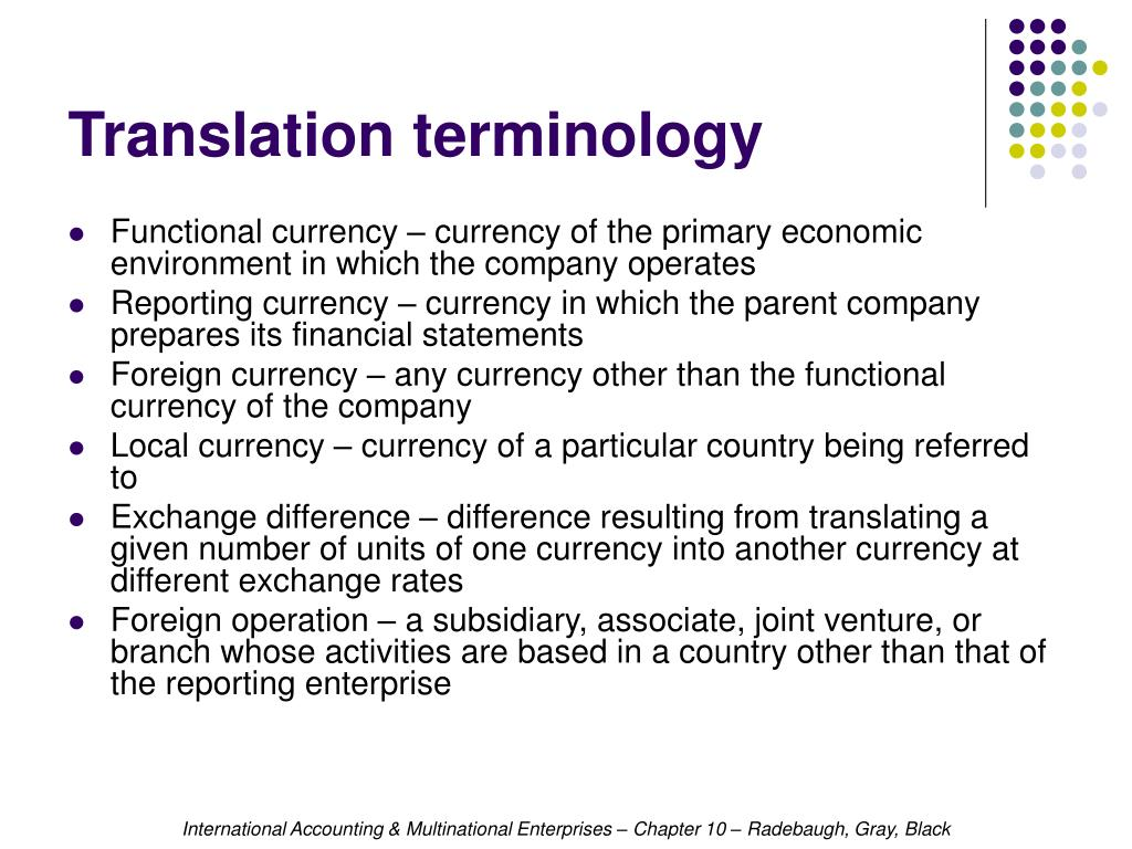 Translation terminology