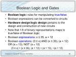 boolean logic and gates