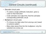 control circuits continued65