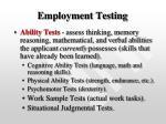employment testing19