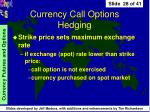 currency call options hedging