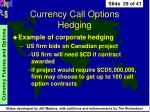 currency call options hedging29