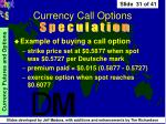 currency call options31
