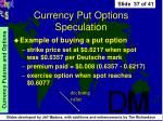 currency put options speculation