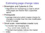 estimating page change rates