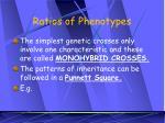 ratios of phenotypes