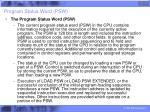 program status word psw