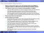 the interruption mechanism