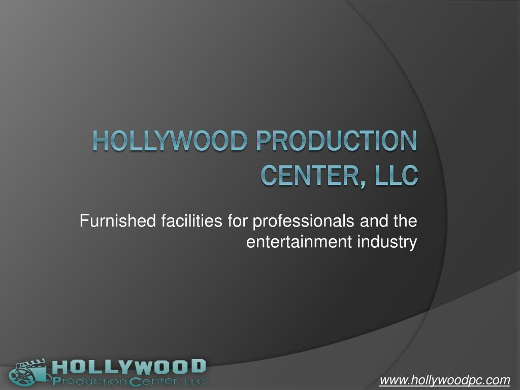 furnished facilities for professionals and the entertainment industry l.