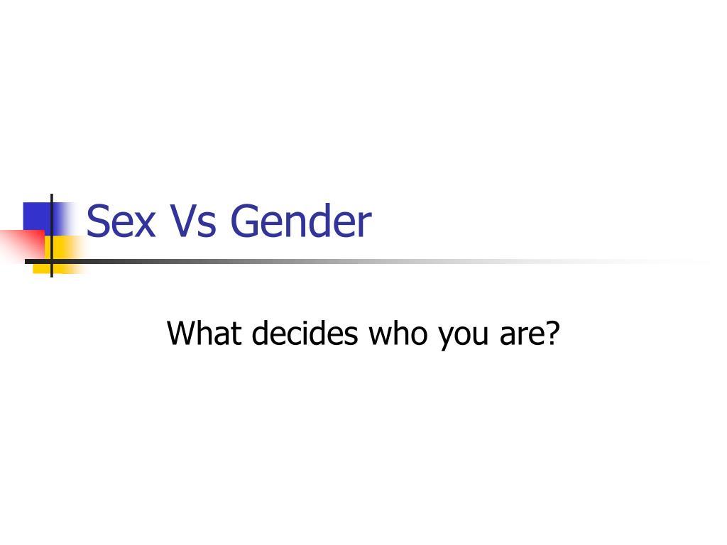 sex vs gender l.