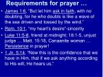 requirements for prayer11