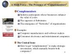a sixth force the presence of complementors