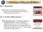 a taxonomy of barriers to entry32