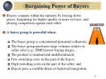 bargaining power of buyers