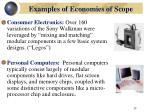 examples of economies of scop e