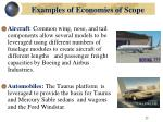 examples of economies of scope