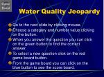 water quality jeopardy