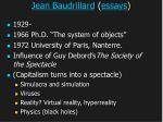 jean baudrillard essays