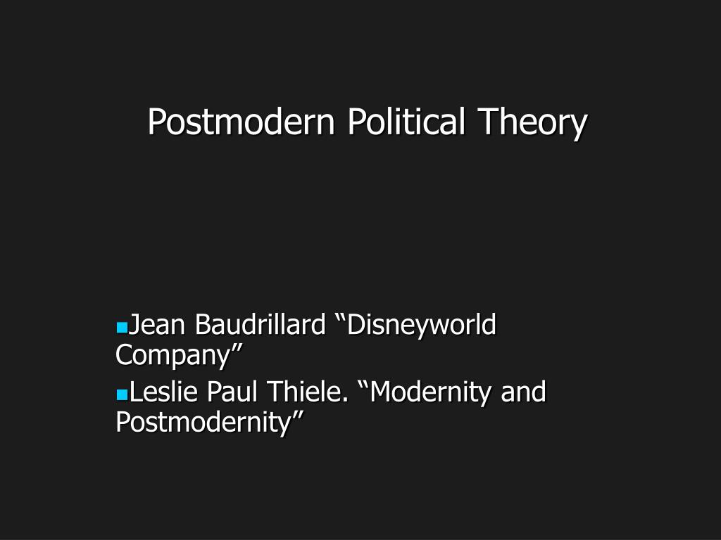 postmodern political theory l.