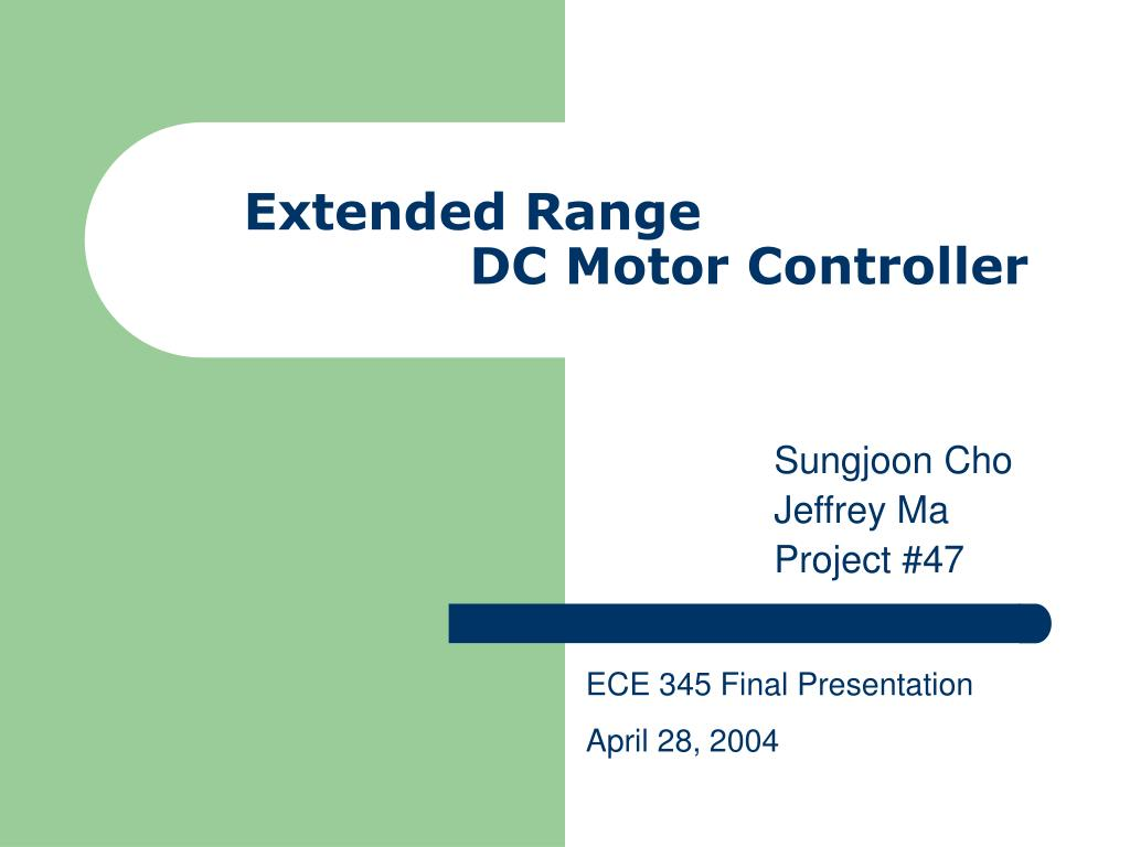 extended range dc motor controller l.