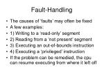 fault handling