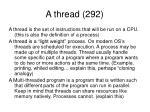 a thread 292
