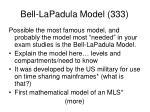 bell lapadula model 333
