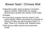 brewer nash chinese wall