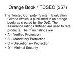 orange book tcsec 357