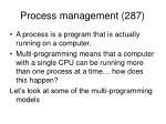 process management 287
