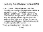 security architecture terms 323